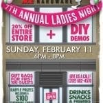 It's Ladies Night at 5th Street Ace on Sunday, February 11